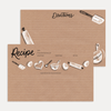 Kraft Paper Baking Recipe Card Pack