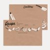 Hand-drawn baking goods cards for your favorite recipes