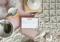 Lily & Val hand-drawn kraft paper recipe cards with flowers