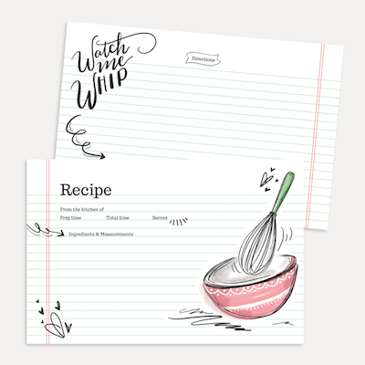 Watch Me Whip Recipe Card Pack