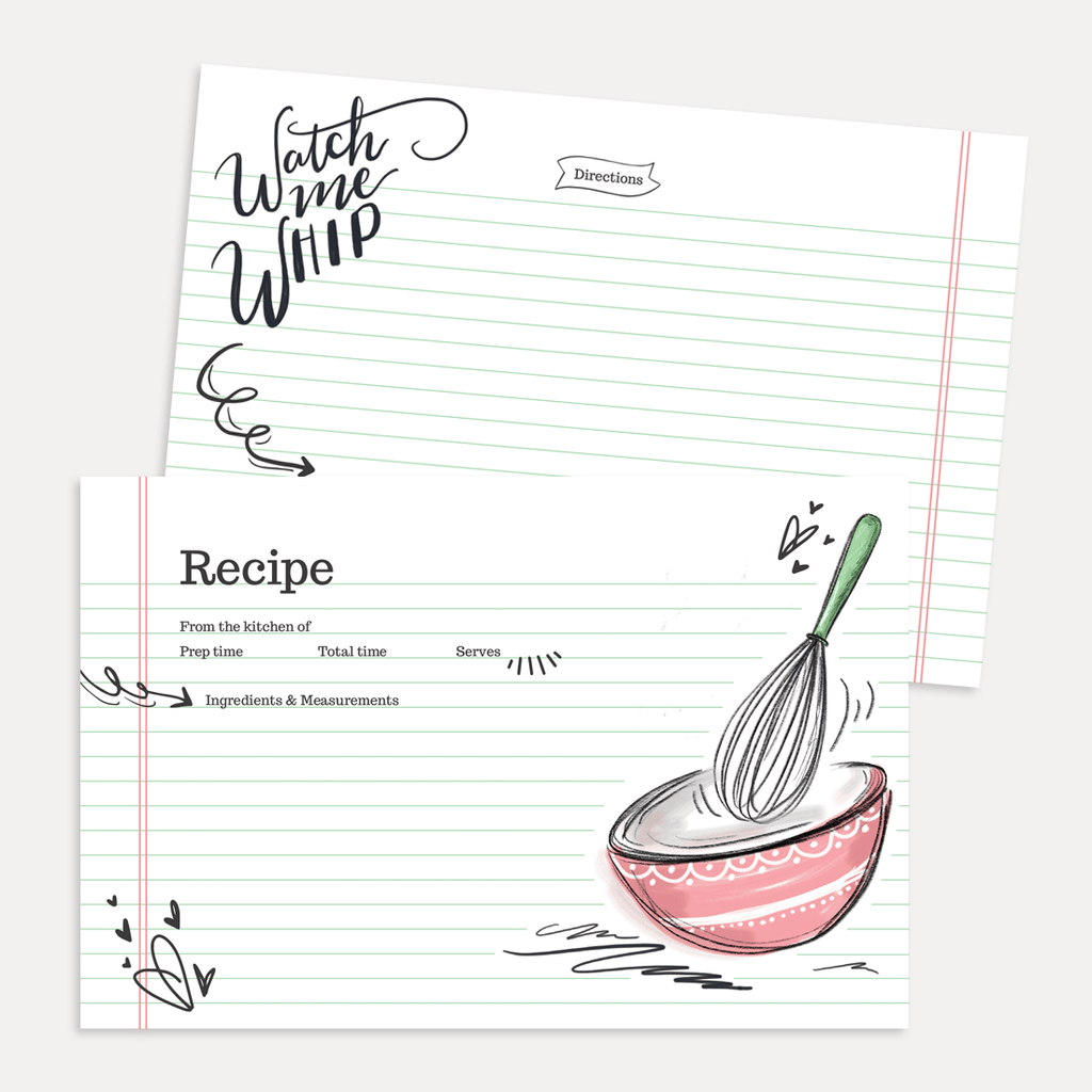 lily  u0026 val  u2013 watch me whip recipe card pack