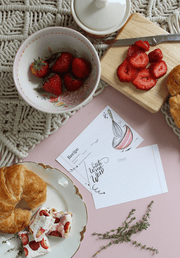 Artistic blank recipe cards for your summer kitchen