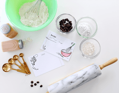 Hand-drawn blank recipe cards for your favorite kitchen creations