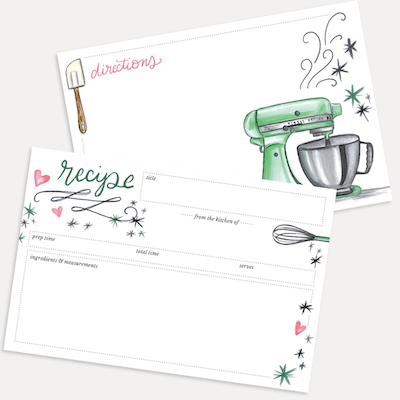 Green Mixer Recipe Card Pack