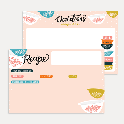 Vintage Pyrex Recipe Card Pack