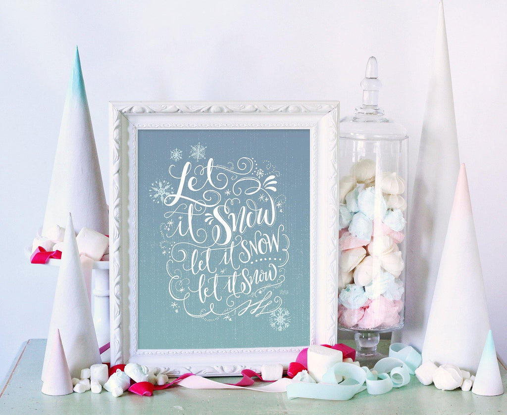 Wonderful Lily & Val – Let it Snow, Let it Snow - Winter Wall Decor  IX03