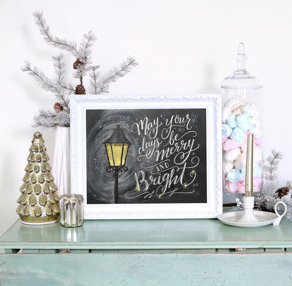 Lily U0026 Val U2013 Christmas Wall Art   Merry And Bright   Christmas Print    Christmas Decor   Merry And Bright Sign   Chalkboard Sign   Chalk Art