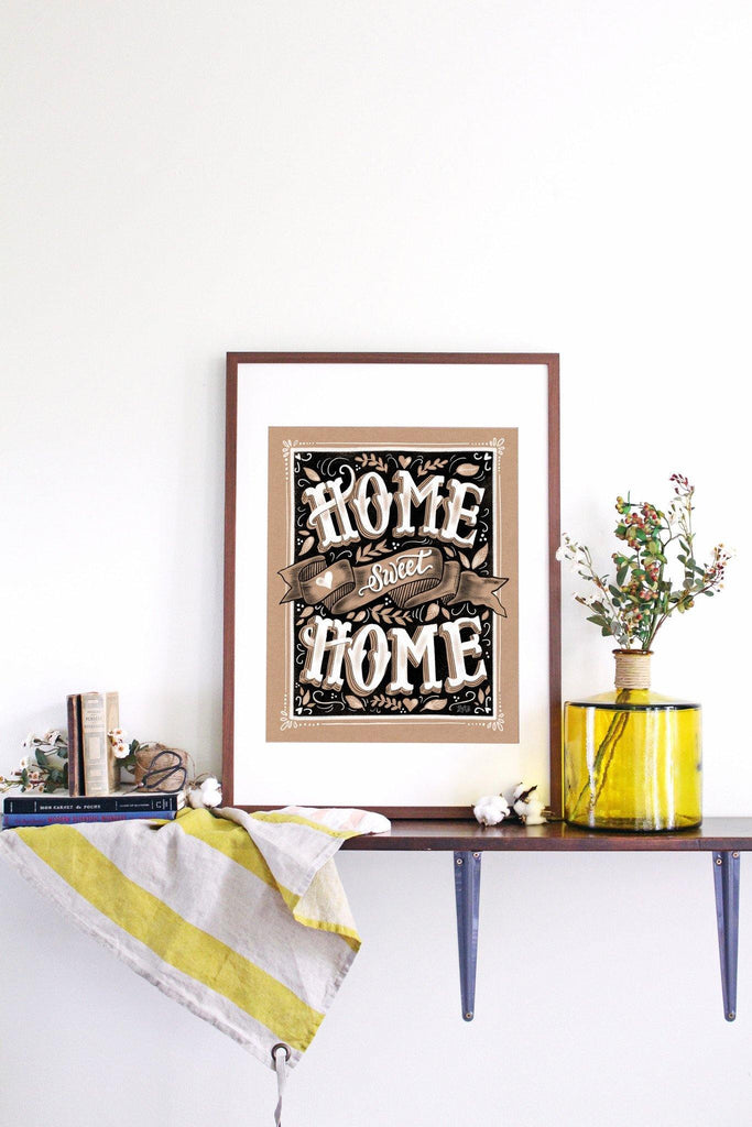 ... Home Sweet Home   Kraft Paper Print U0026 Canvas