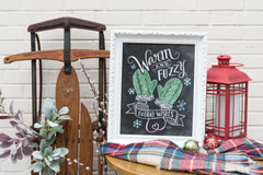 Warm & Fuzzy Holiday Wishes - Print