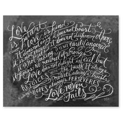 Love is Patient - Scripture Print