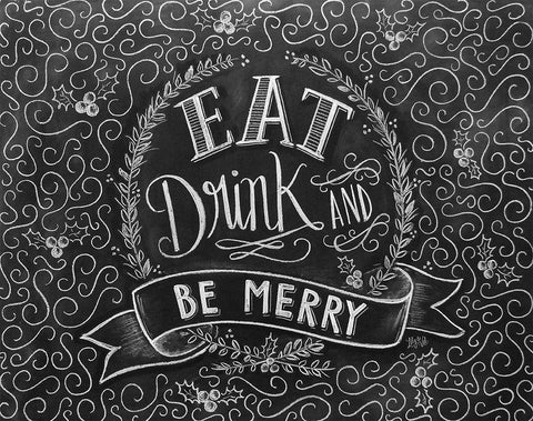 Book of 25 Tear-Out Placemats - Eat, Drink & Be Merry