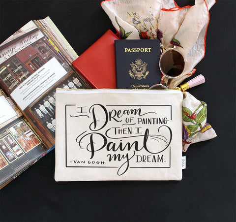 Paint My Dream Zippered Pouch