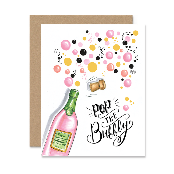 Pop the Bubbly - A2 Note Card