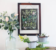What a Wonderful World - Print
