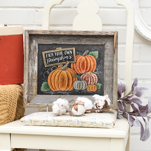 Pick-Your-Own Pumpkins - Print & Canvas