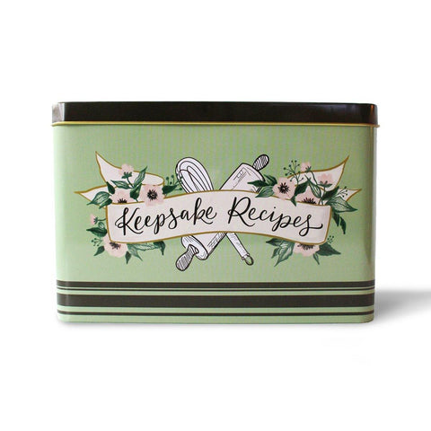Keepsake Recipe Tin - Retro Mint