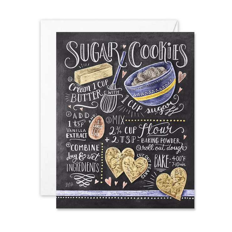 Sugar Cookies Recipe - A2 Note Card