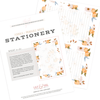 Clementine - Stationery Sheet Download