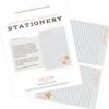 Bonjour & Baguettes - Stationery Sheet Download
