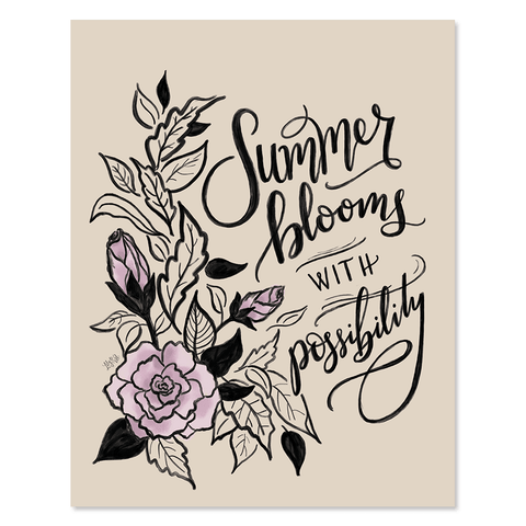 Summer Blooms With Possibility- Print & Canvas