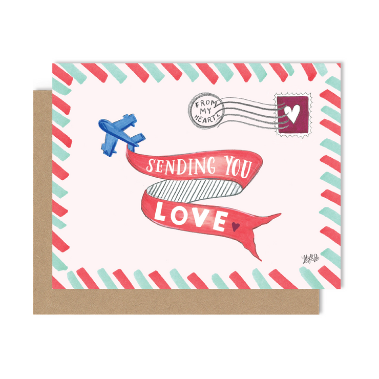 Sending You Love - A2 Note Card