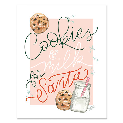 Cookies & Milk For Santa - Instant Digital Download