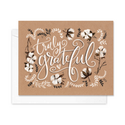 Truly Grateful - A2 Note Card