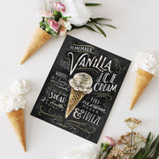 Vanilla Ice Cream Recipe - Print