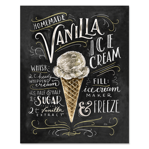 Vanilla Ice Cream Recipe - Print & Canvas