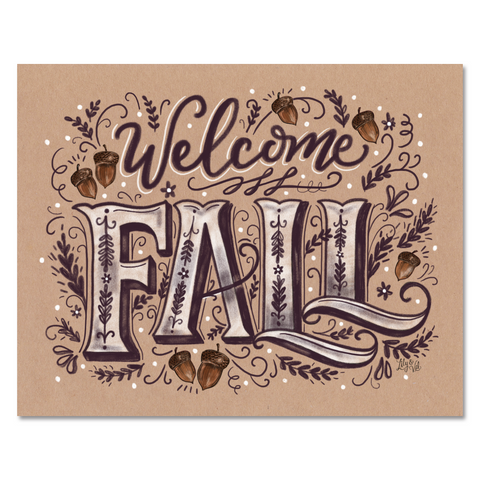 Welcome Fall - Print