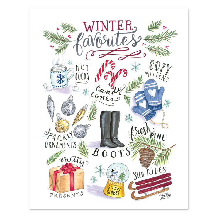 Winter Favorites - Print