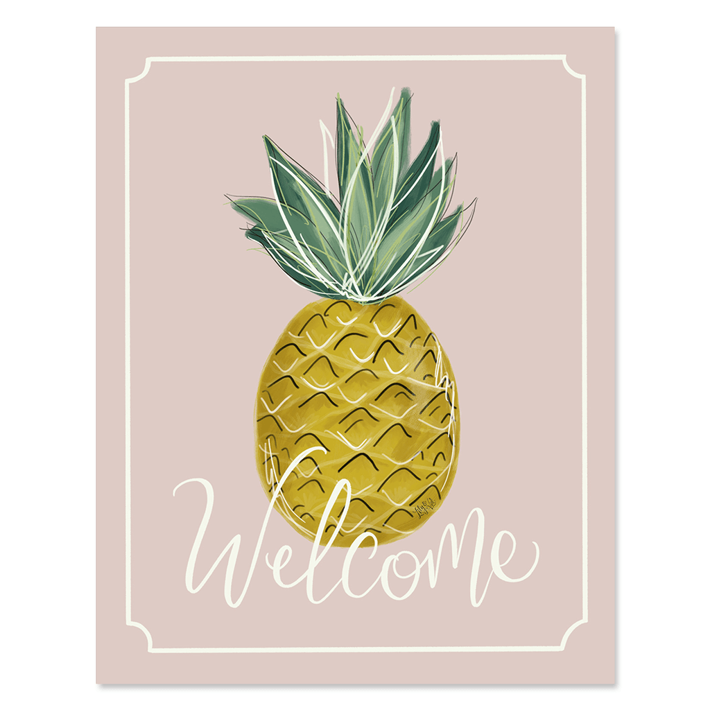 Lily & Val – Summer Welcome Pineapple - Print & Canvas - Summer wall ...