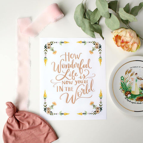 Now You're In The World - Girl - Print