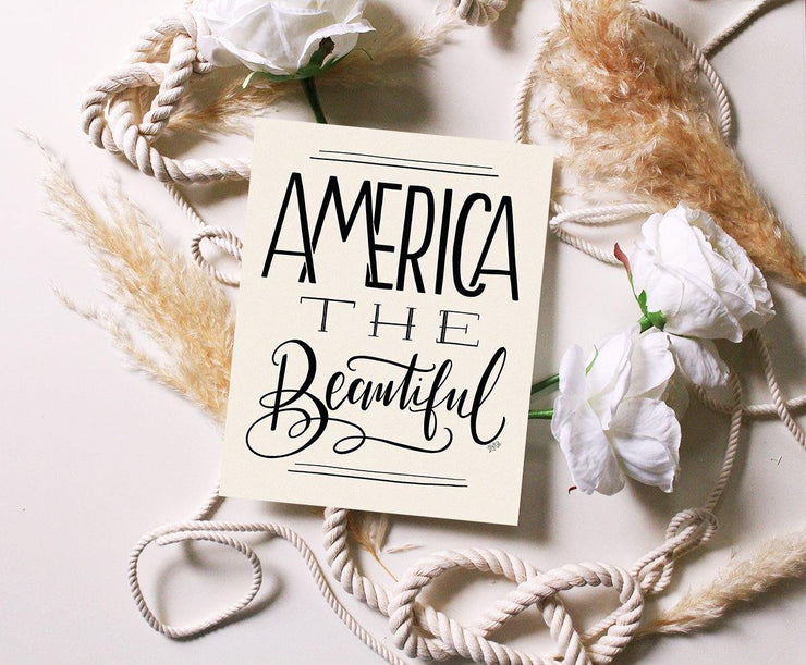 America The Beautiful - Print