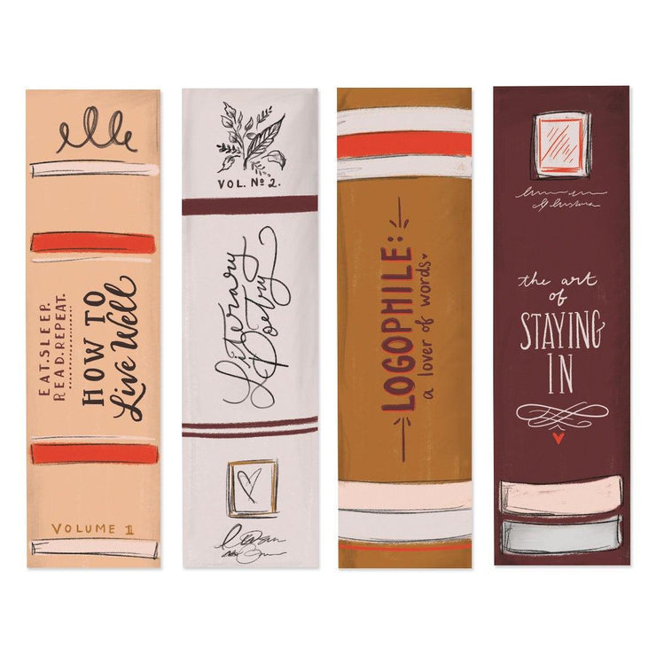 Book Spine Bookmarks - Digital Download
