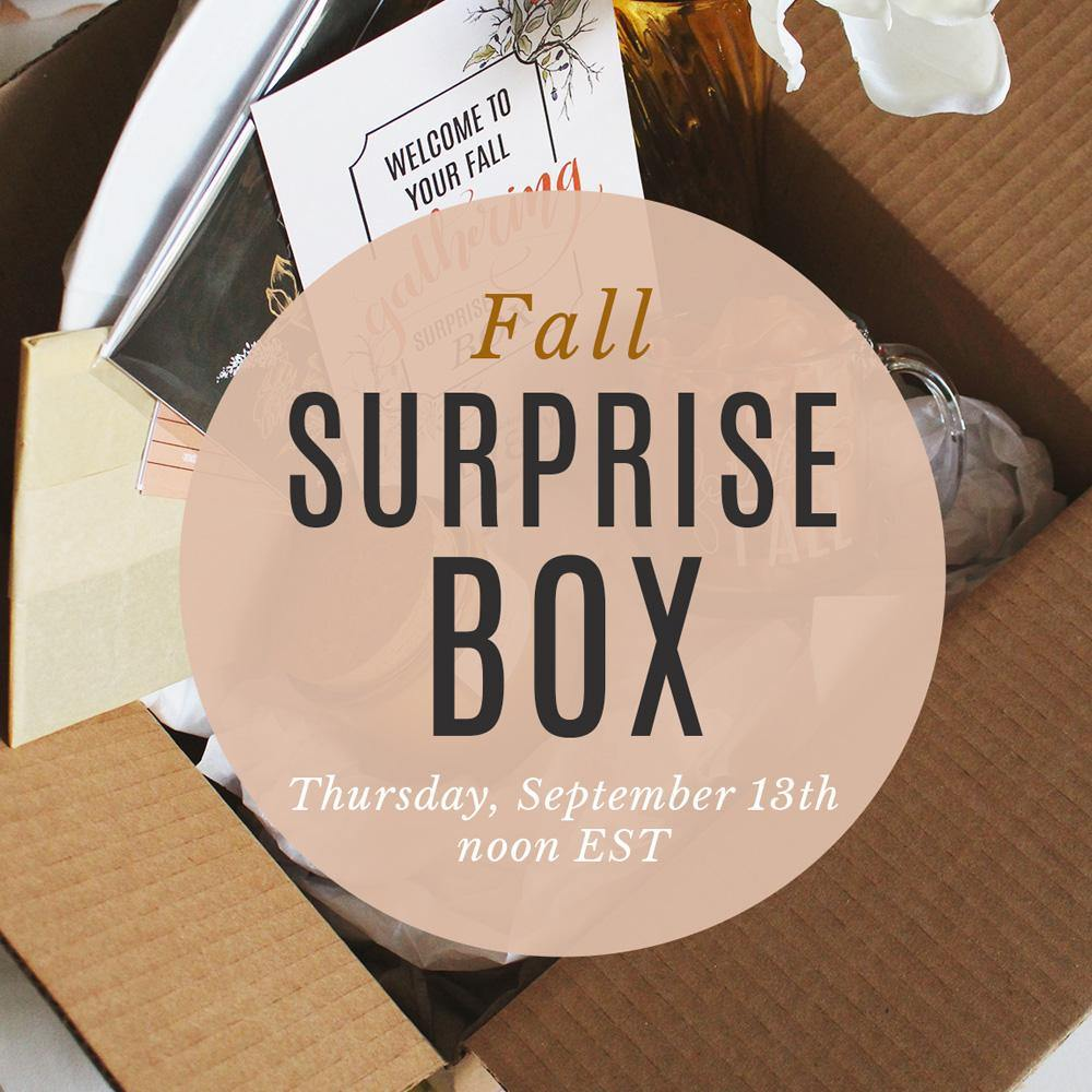 Fall Gathering Surprise Box - SHIPPING INCLUDED