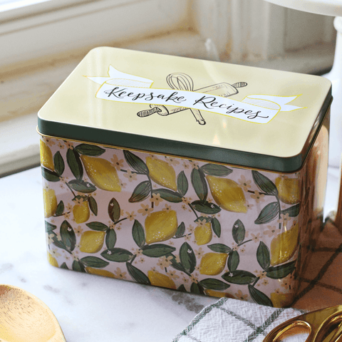 Keepsake Recipe Tin - Whimsical Lemon