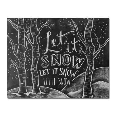 Let It Snow Woodland - Print