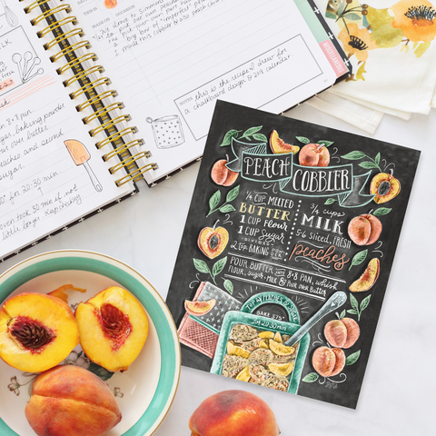 Peach Cobbler Recipe - Print & Canvas