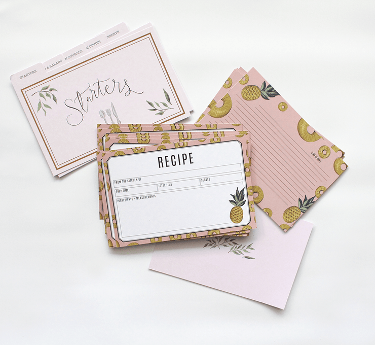 Keepsake Recipe Tin - Mustard Stripe