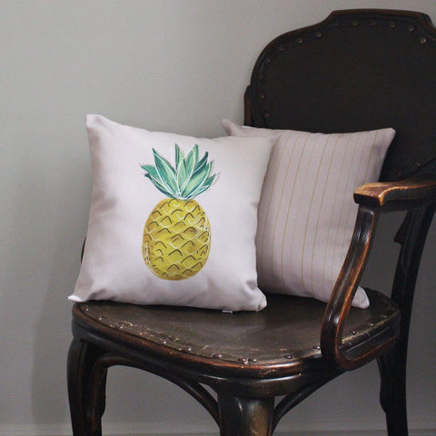 Cheerful Pineapple Handmade Pillow - Two Color Options