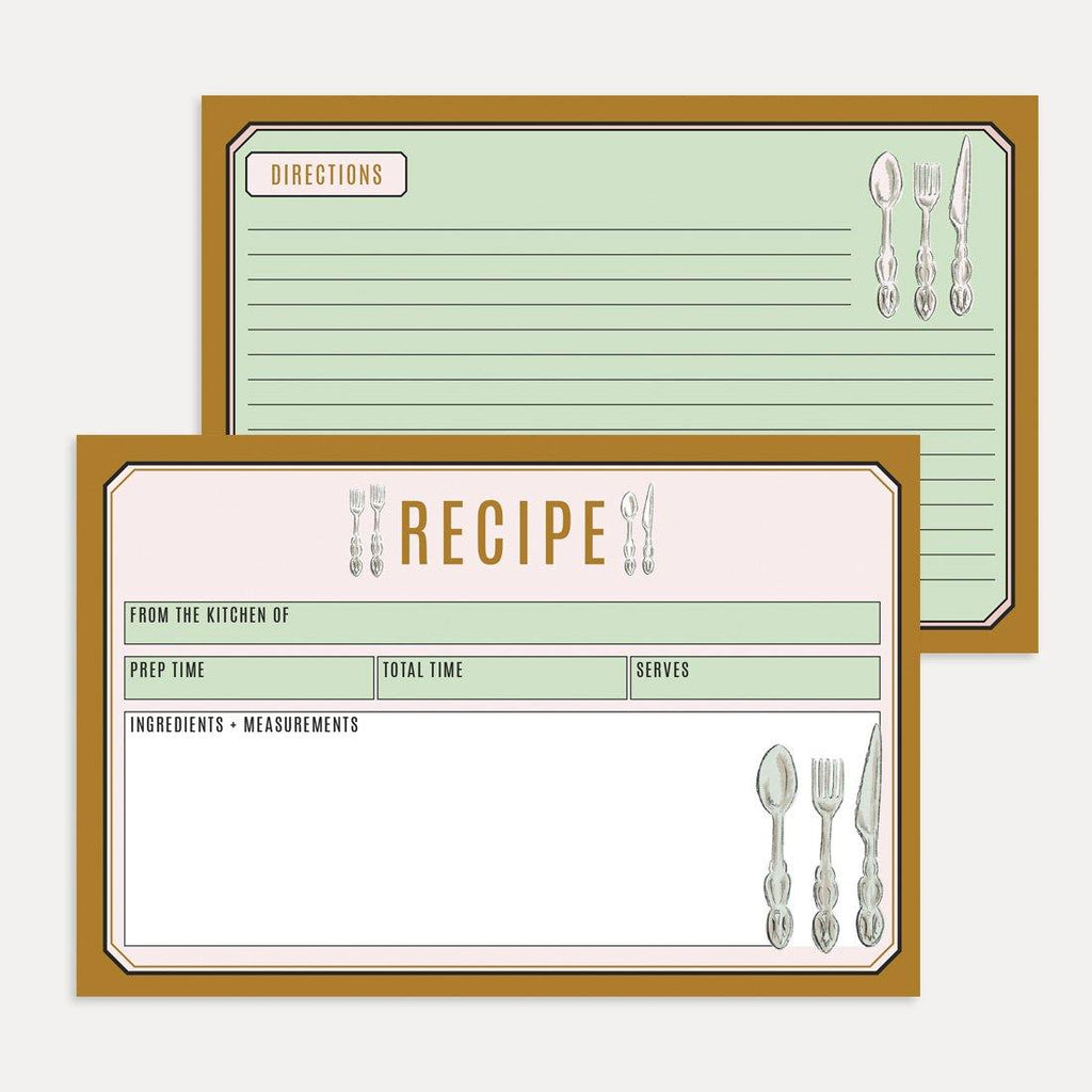 Classic Gold Recipe Card Pack