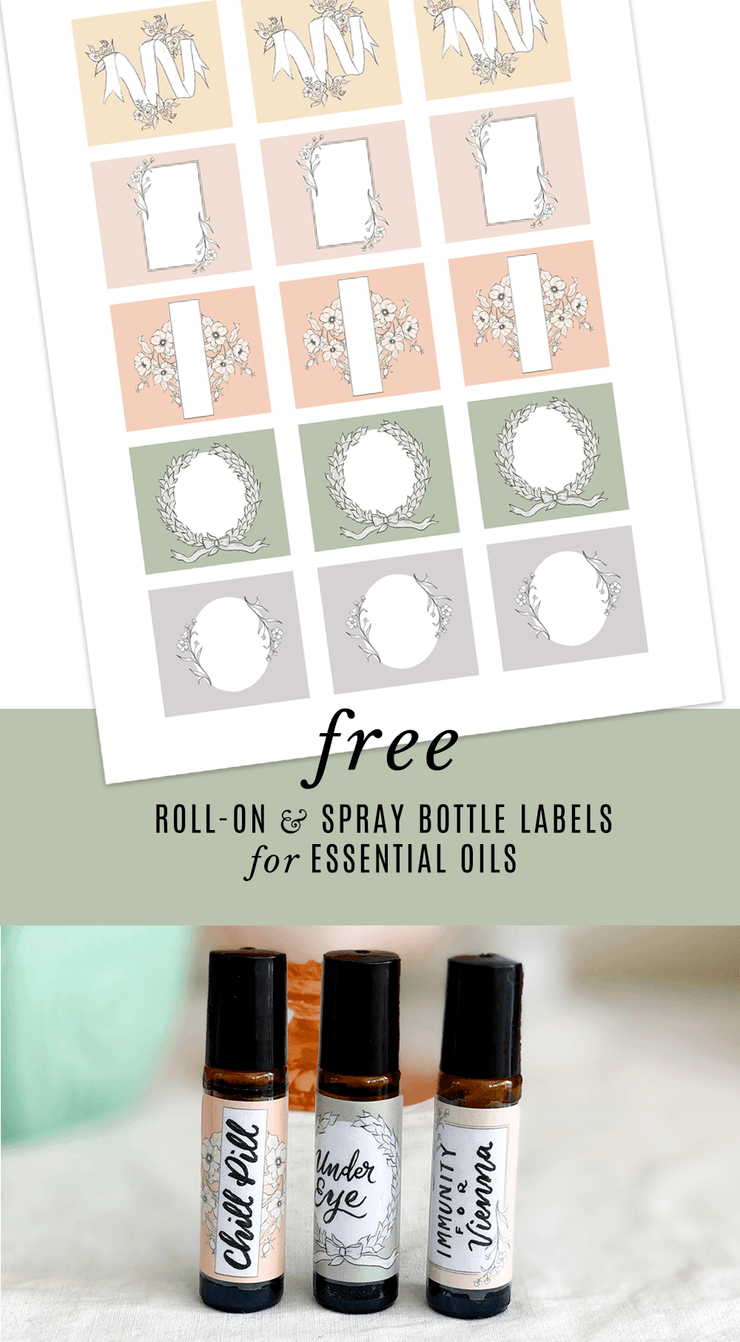 Essential Oil Roller Bottle Labels - Digital Download