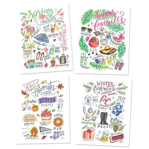 Seasonal Favorites - Set of 4 Prints