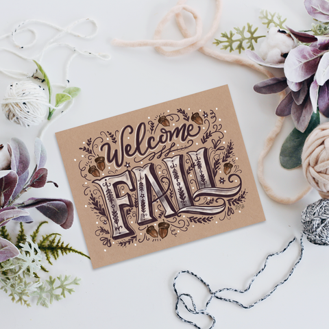 Welcome Fall - Print & Canvas