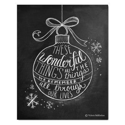 Wonderful Things Ornament - Print