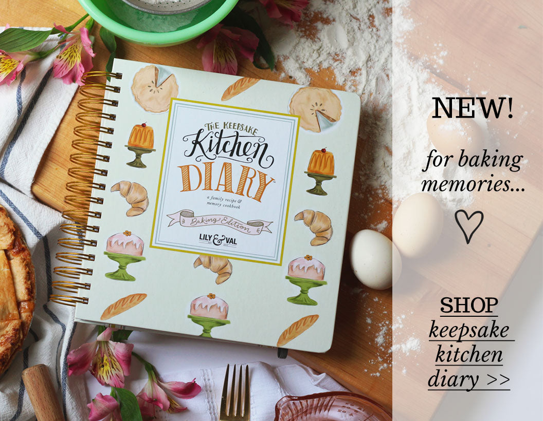 The brand new Baking Keepsake Kitchen Diary by Lily & Val