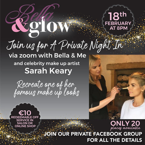 Bella & Glow virtual event 18th February