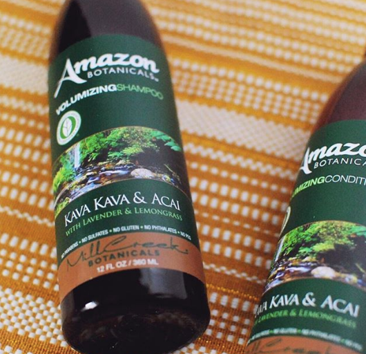 AMAZON BOTANICALS VOLUMIZING SHAMPOO KAVA KAVA & ACAI - Mill Creek Botanicals
