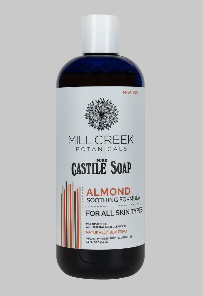 Castile Soap Almond (NEW LOOK) - Mill Creek Botanicals